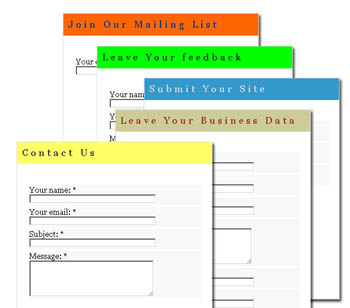 Forms samples - Cloud Contact Forms