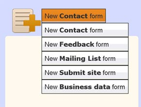 How to use templates to create free contact form